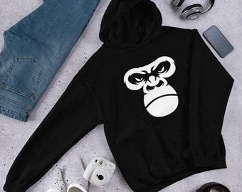 Gorilla Ape Monkey Face Hoodie Men Women
