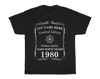 Custom 40th Birthday Gift 1980 TShirt 41st, 42nd, 43rd, 44th