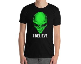 Aliens I Believe ET T-Shirt , Ufology, Ufo, Grey Aliens, Extra Terrestrial, The Universe, Cosmology, UFO TShirts, Ancient Aliens, T-Shirts