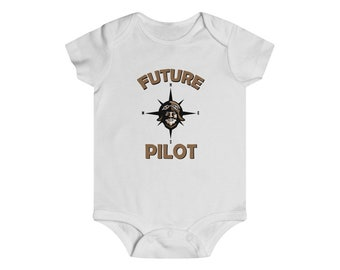 Future Airplane Pilot Infant Baby One Piece Clothing
