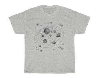 Astronomy Solar System Doodle TShirt