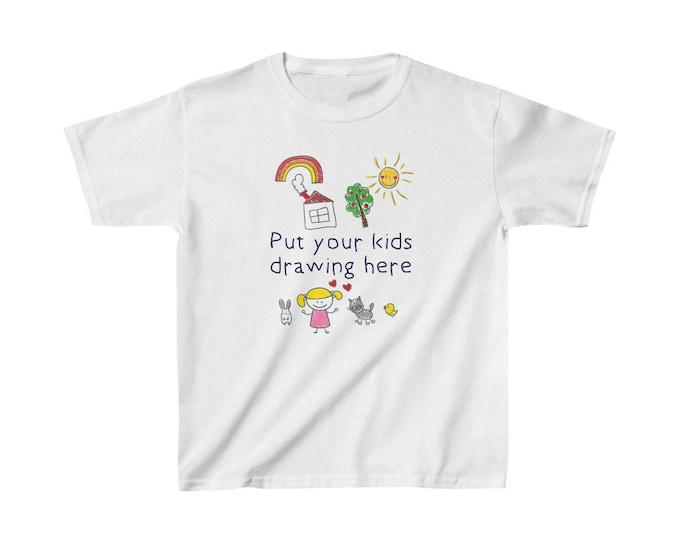 Featured listing image: Put Your Kids Art Drawing on a Youth TShirt