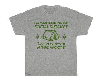 Funny Social Distance Camping TShirt