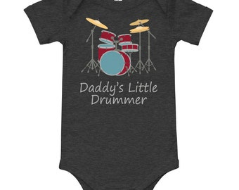 Daddys Little Drummer Baby Clothing Infant T-Shirt