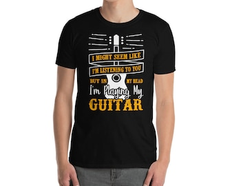 Guitar Playing TShirt for Musicians - Guitarists