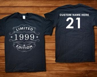 Custom 21st Birthday TShirt Whiskey Label