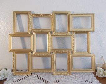 Gold Wedding Seating Chart Collage Frame Ornate Spring Summer Fall Winter  Reception Centerpiece Decoration Hollywood Regency Home Decor Gift