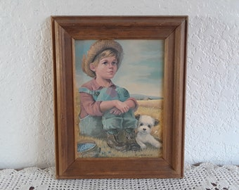 Antique framed Victorian print from artist Carl Mueller Wood wooden picture frame Vintage Colonial artwork wall hanging Carriage arrival