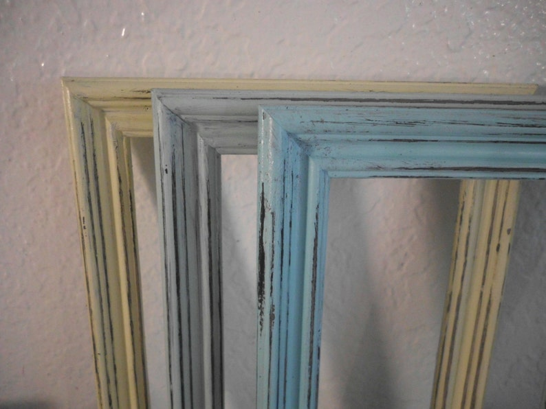 Pastel Frame Rustic Shabby Chic Distressed Wood Picture Photo Decoration Country Farmhouse Cottage Nursery Home Decor 4 x 6 or 5 x 7 Gift