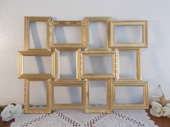 Gold Wedding Seating Chart Collage Frame Ornate Spring Summer Fall ...