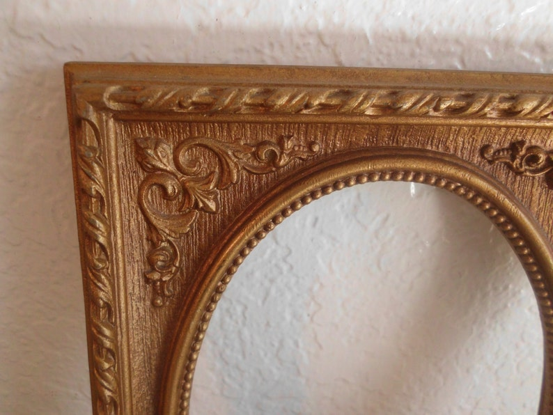 Vintage Ornate 5 x 7 Oval Picture Frame Syroco Photo Decoration Country Farmhouse Western Home Decor Rustic Wedding Decoration Gift Her Him