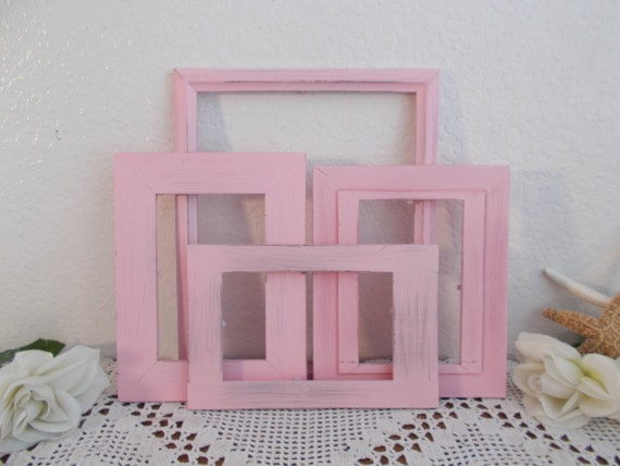 Shabby Chic Country Romantic Frame.Pink Picture Frame Set Shabby Chic Romantic Cottage French Country Paris Apartment Feminine Southern Home Decor Girl Nursery Bedroom Gift