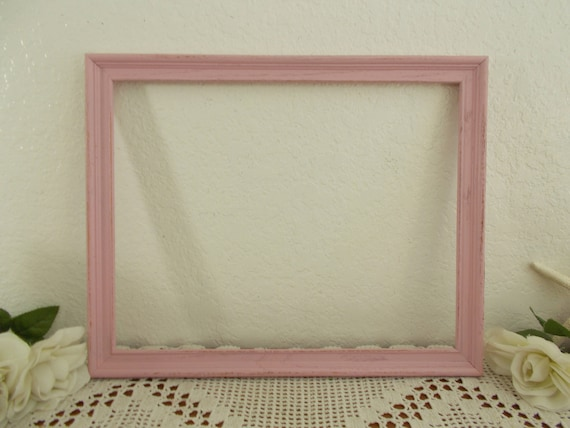 Shabby Chic Country Romantic Frame.Pink Picture Frame 11 X 14 Photo Decoration Up Cycled Vintage Wood French Country Farmhouse Baby Girl Nursery Romantic Cottage Home Decor
