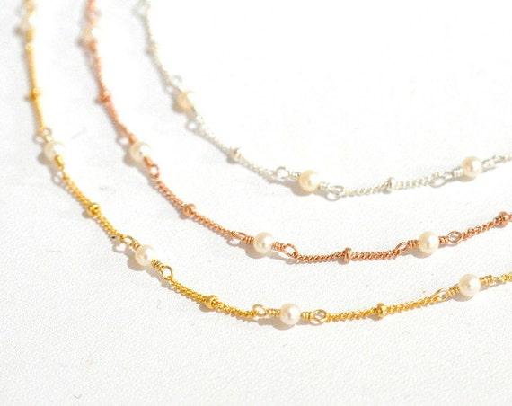 Freshwater Pearl Bracelet, Delicate Gold Bracelet, Dainty Gold Bracelet, Pearl Gold Bracelet, June Birthstone Jewelry, Romantic Wedding