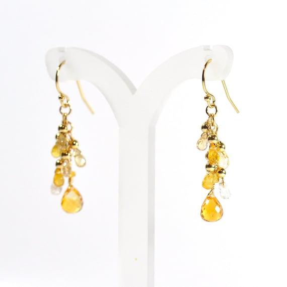 Citrine, Yellow Sapphire earrings,  Citrine Earrings, Yellow Stone Earrings, Gift For Her