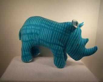 Randy RHINO stuffed toy, child and baby safe stuffed Rhino, Plush toy, Fleece and Polyester stuffing Rhino toy