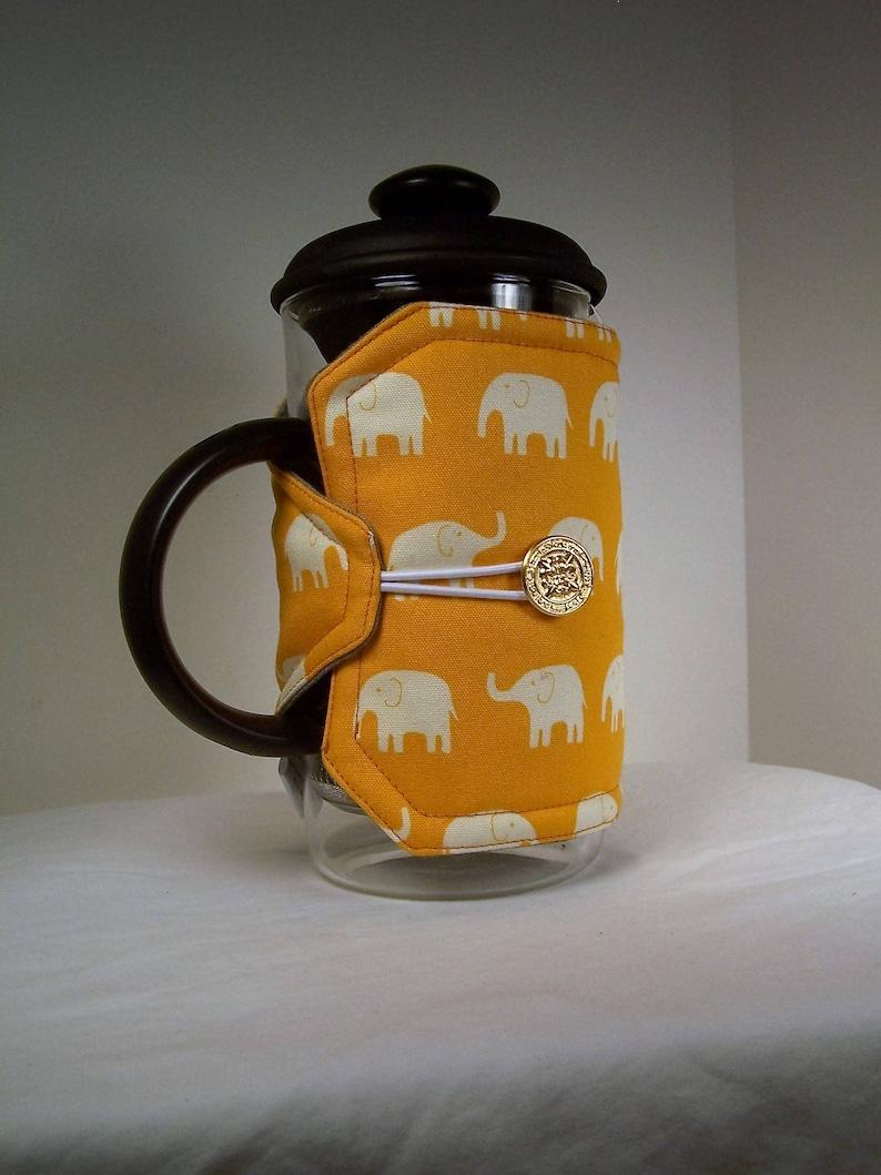 Elephants French Press Cozie Insulated Coffee Pot Cozy Bodum image 0