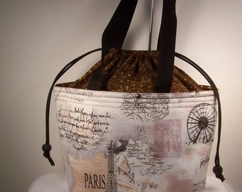Paris Map Lunch Bag, Lunch bag Insulated, bento box lunchbox, adult lunch box, lunch cooler, cosmetic Bag