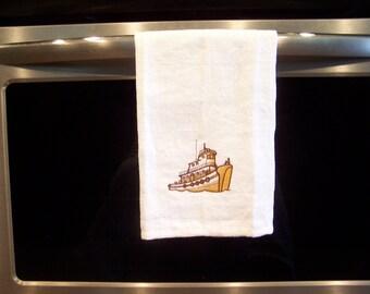 Linen Tea Towel, Absorbent linen towel, kitchen tea towel, dish towel, flat woven towel, Hostess gift,