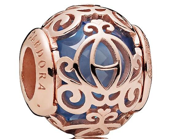 Cinderella, Pumpkin Coach, Pandora ROSE, Disney Exclusive, Bracelet Charm, Enchanting, Fairy Godmother, Blue Crystal