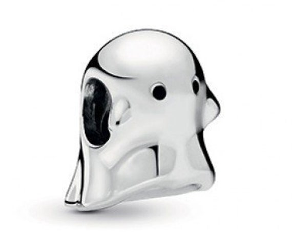 BOO The Ghost, Pandora, Bracelet Charm, Family Friend, Black Enamel Eyes, Silver, Always With You, Halloween, Heart, Fall 2019