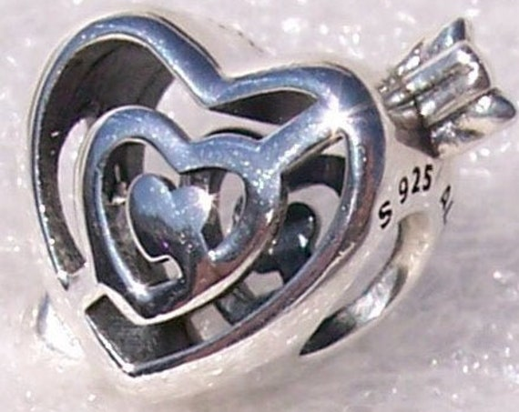 Path To Love, Pandora, Bracelet Charm, Labyrinth Of Hearts, Arrow, Sculptural, Follow Your Heart, Slider, Sterling Silver