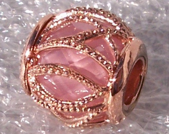 Intertwining Radiance, Pandora Rose, PINK CZ, Facet Stone, Natures Accents, Bracelet Charm, Stunning, Intricate, Glamorous