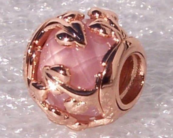 PINK, Decorative Leaves, Pandora Rose, PINK CZ, Facet Stone, Natures Accents, Bracelet Charm, Vine, Winding Leaves, Autumn, 2019