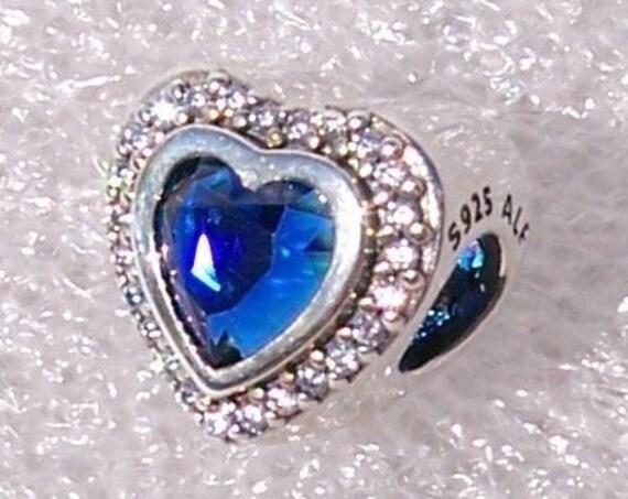 Sparkling Love, BLUE Crystal, Pandora, Bracelet, Hearts, Brilliance, Shimmering, Two Sides, Sterling Silver, Clear CZ, Facet Cut, Slider