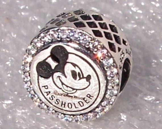 PASSHOLDER,Walt Disney World,Pandora,Annual Pass Holder,Bracelet Charm,Parks Exclusive, Mickey Mouse, Castle, 925, Trip, CZ, Family Vacation