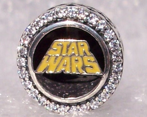 STAR WARS, Pandora Disney, Parks Exclusive, Movie, Galaxys Edge, Force Be With You, Bracelet Charm, Exclusive, 925, Clear CZ, Slider, Enamel
