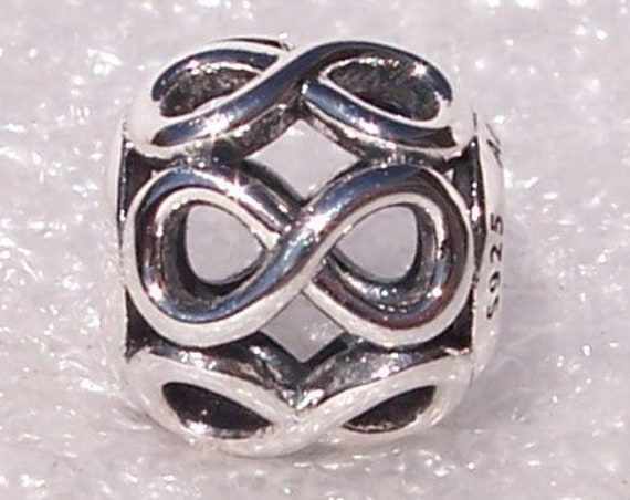 Infinite Shine, Pandora, Bracelet Charm, Without Limits, Wealth Of Meaning, Never Ending, Forgiveness, Sterling Silver, Slider, Openwork