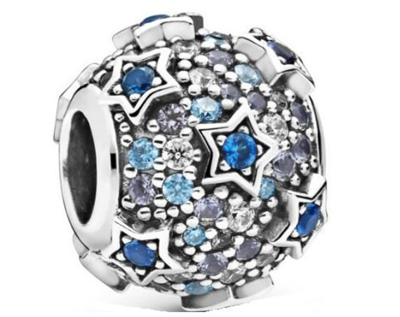 Elevated Stars, Pandora, Bracelet Charm, 925, Scattered, Royal Blue Crystal, CZ, Celestial, Winter Sky, 2019, Moonlit, Shades Of Blue,