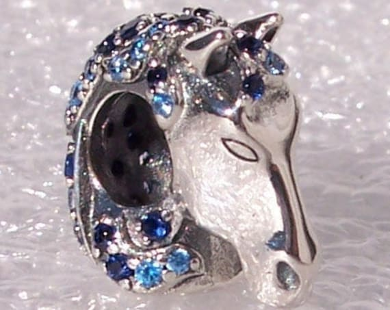 Frozen 2, NOKK Horse, Pandora Disney, Bracelet Charm, Shades Of Blue, CZ, 925, Mystical Water Spirit, Oceans Power, Forest, 2019 Autumn