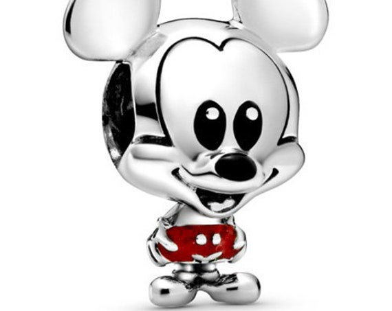 Mickey Mouse,Red Trousers Charm,Pandora Disney,Enlarged Ears,Smiling Face,Bracelet Bead,Red Enamel,Minnies Love,Iconic,Character,Friends