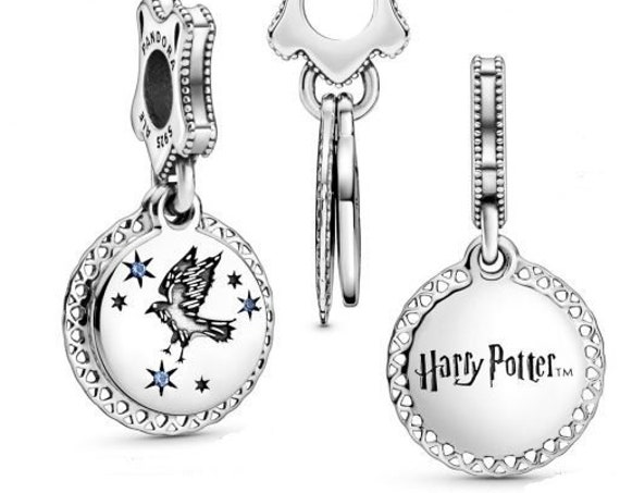 Ravenclaw, HARRY POTTER, Pandora, Intelligent, Wise, Wit, Wisdom, Bracelet Charm, 925, 2019, Hogwarts, School Crest, Blue Crystal