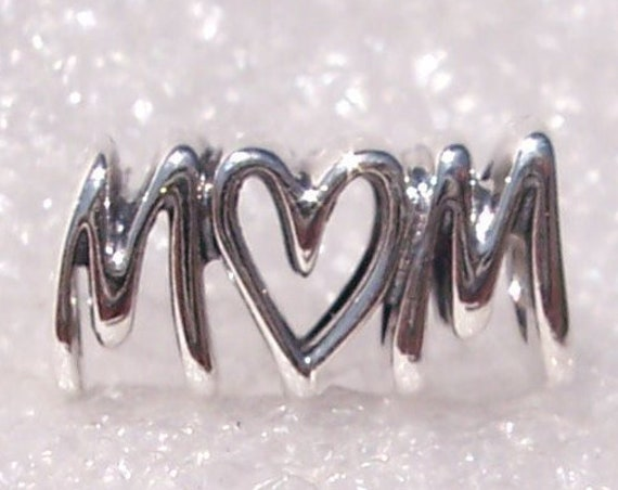 Mom Script, Endless Love, Pandora, Heart, Bracelet Charm, Mothers Day, Traditions, Unconditional, My Rock, My Hero, Best Friend, Career