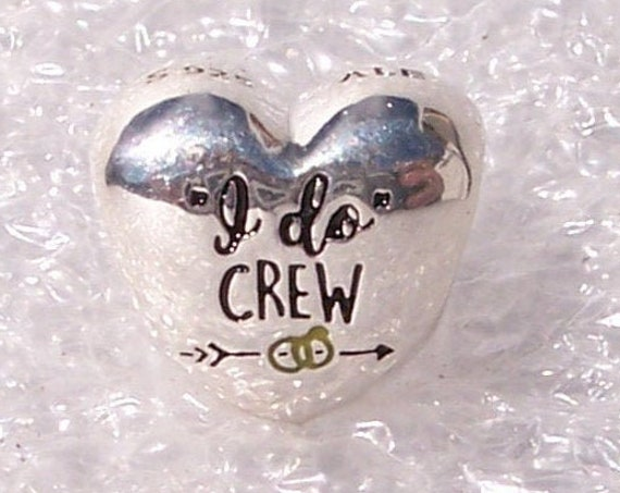 I DO, Crew, Honor Bridesmaids, Pandora, Bracelet Charm, Enamel, Engraving, 925, Wedding Rings, Single, Maid Of Honor, Marriage, Heart