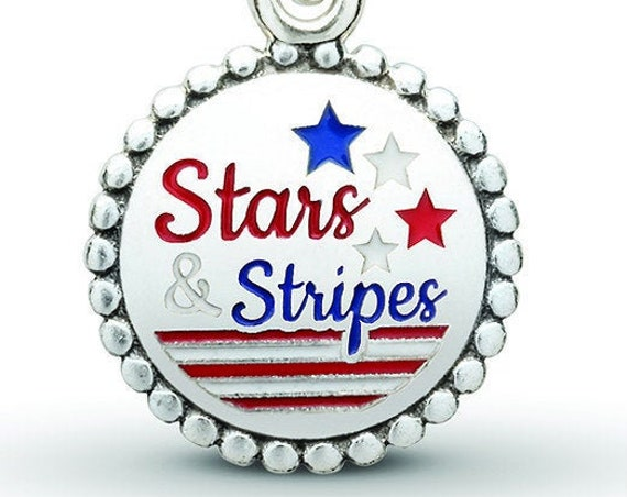 Stars And Stripes, Pandora, Bracelet Charm, USA, United States, America, Home Of The Brave, 925, Enamel, Patriotism, Dangle, Olympics