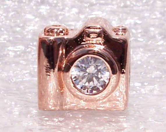 Sentimental Snapshot, Pandora Rose, Bracelet Charm, China Exclusive, Luscious Rose Finish, Dipped In Fun, Clear CZ, Every Moment Counts