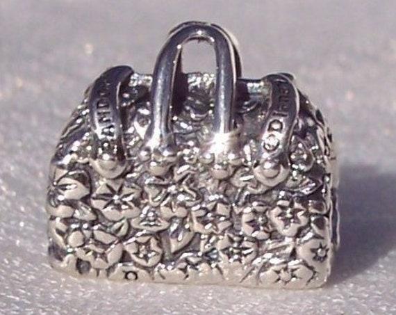 Mary Poppins Bag, Pandora Disney, Bracelet Charm, Magical, Nanny, Handbag, Iconic, Flying, 925, Travel, Texture, Overnight, Floral,
