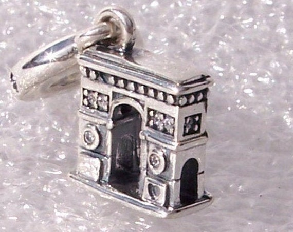 Arc De Triomphe, Pandora, Bracelet Charm, Famous Monument, Paris, Battle of Austerlitz, Dangle, Silver, CZ, Victory, 2019, Travel, Napoleon