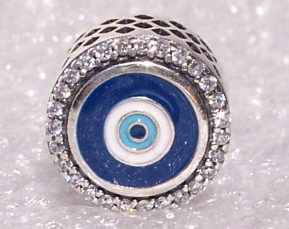 Canadian, Store Exclusive, Limited Edition, Double Sided, Evil Eye, Bracelet Charm, Slider, Enamel, Sterling Silver, Culture, Fashion, Trend