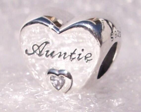 Auntie Love Heart, Pandora, Bracelet Charm, 925, CZ, Autumn 2019, Dedication, Special Gem, Special Times, Honest, Niece, Nephew, Loving