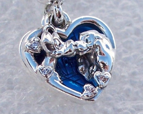Lady and The Tramp, Disney Charm, Pandora, Opposites Attract, Bracelet Bead, Iconic Story,Pampered,Cocker Spaniel,925,Enamel,Stray,CZ Hearts