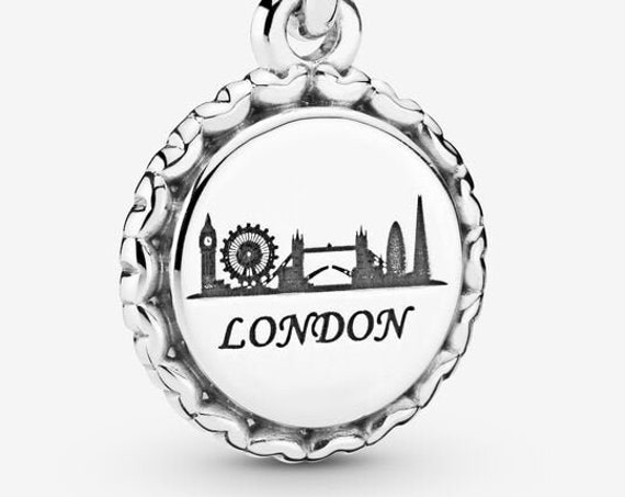 London, Skyline Charm, Pandora, Exclusive, Bracelet Bead, Vacation, 925, Trip, Travel, UK, Destination, Boy, Girl Name, Celtic, Fortress,