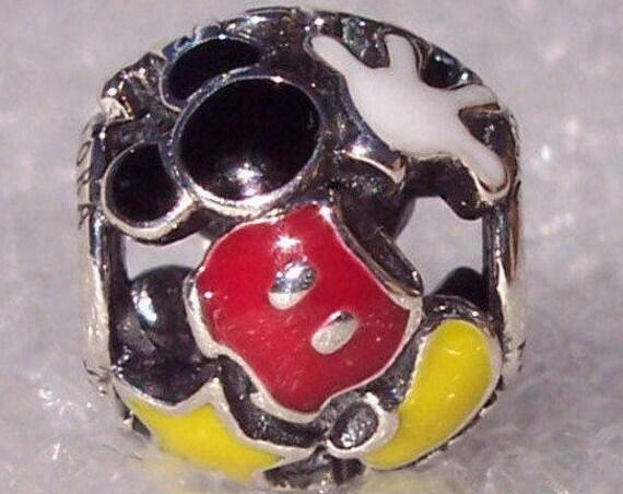Mickey Mouse Mania, Pandora Disney, Bracelet Charm, Enamel, Resort, Parks Collection, Body Parts, Slider, Minnie, Whimsical, 925