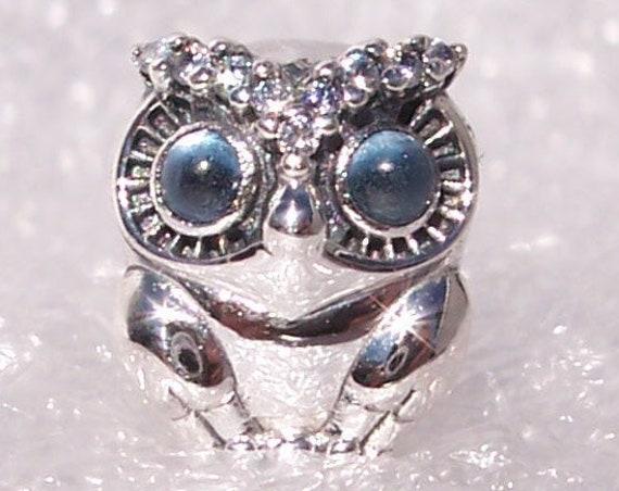 Sparkling Owl, Pandora, Bracelet Charm, Wisdom, Magical, Blue CZ, Silver, Wise Choices, Guidance, Stay True, Inner Voice, Autumn 2019