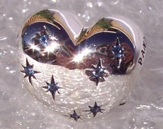 Cinderella's Dream, Pandora Disney, Bracelet Charm, 925, Blue CZ, Heart, Make A Wish, Dream Big, Star Embellished, Inspirational