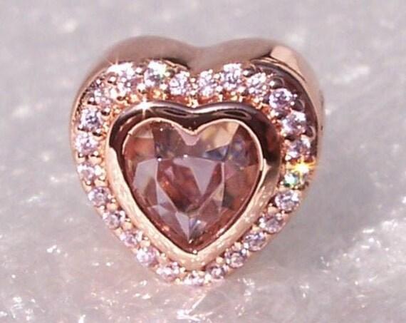 Sparkling Love, Pandora Rose, Bracelet Charm, Pink Crystal, Elegant, Hearts, Luck, Love, Sparkling, Dazzling, Warm Tones, Romance, Blush